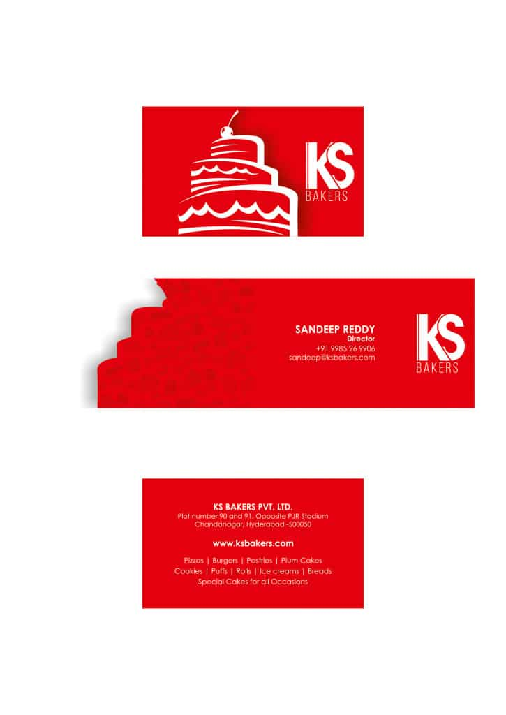 Creative Visiting Card, Rebranding, KS Bakers